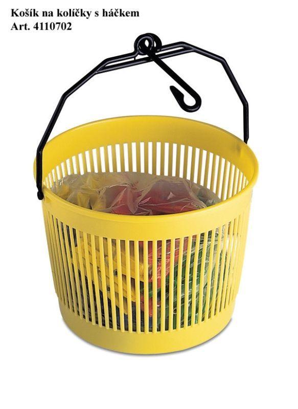 košík na kolíčky s háčkem d18,5x12,5cm