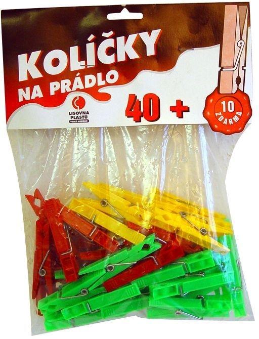 kolíčky 50ks H92, 7,2x1,6x0,9cm, plast