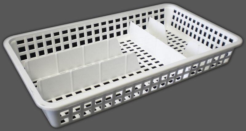 příborník 38x21x5,6cm, úzký, 5přihr.,plast