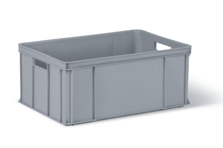 přepravka 60x40x25,0cm 30kg ORIG.. šedá 250 HDPE