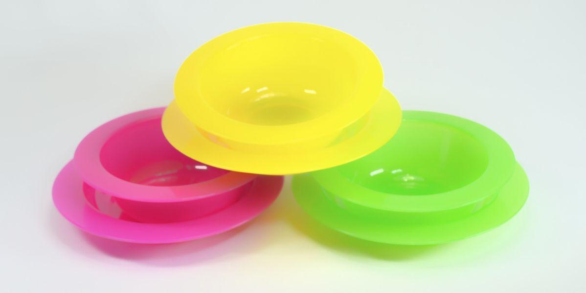 talíř 2ks dětský transpar,,PP plast