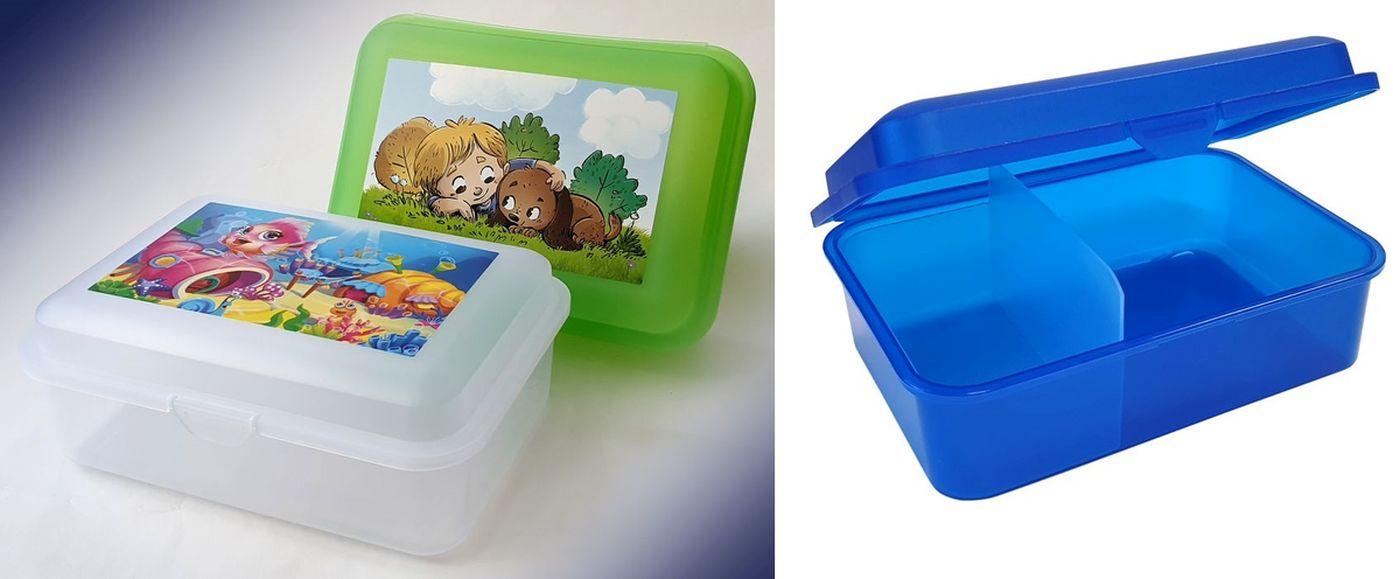 box  1,50l, svačina, dělený, Dětský dek, 18x13x7cm, plast