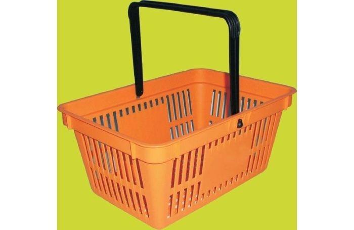 košík nákupní 30,5x44,5cm, v. 20,5cm, 1ucho