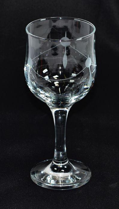 Sklenice 6ks 240ml NEVAKAR víno - ruční brus
