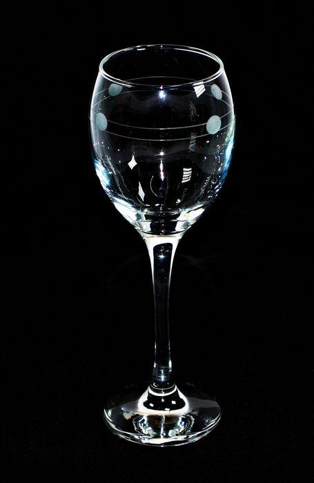 Sklenice 6ks 245ml VENUE víno - ruční brus