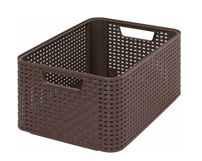 koš-box 39x29x17cm-ratan,hnědý Style2-M
