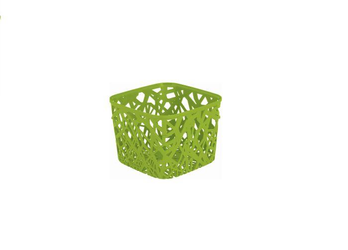 košík 19x19x14,5cm,pop.zel.-Eco Life Neo