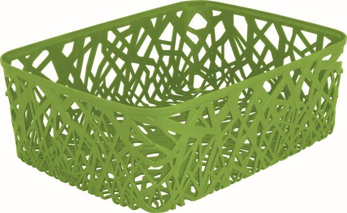 košík 38x29x13cm,zelený-Eco Life Neo