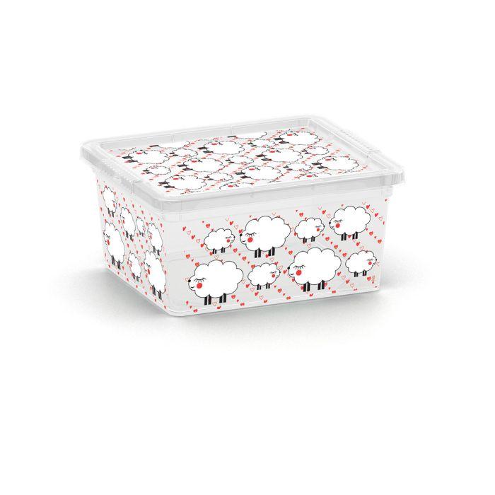 box  2,0l ANIMALS děts.20x17x10cm, ovečka, plast
