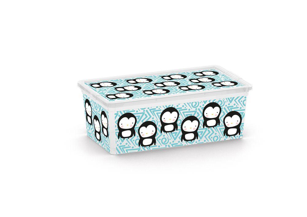 box  6,0l ANIMALS děts.34x19x12cm, tučňák, plast