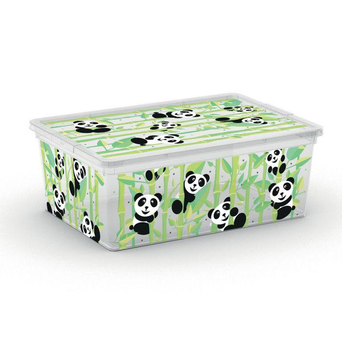box 11,0l ANIMALS děts.37x26x15cm, panda, plast