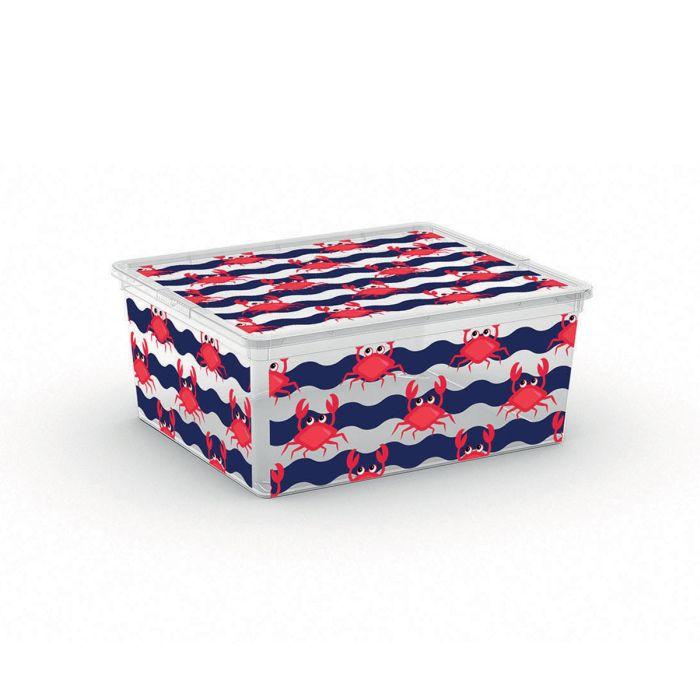 box 18,0l ANIMALS děts.40x34x17cm, krab, plast