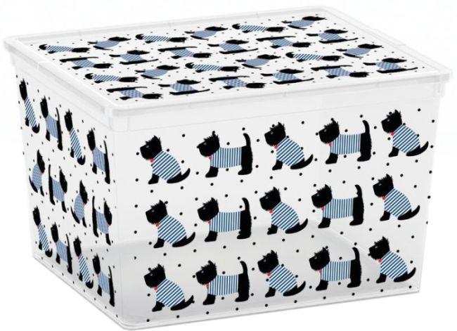 box 27,0l ANIMALS děts. 40x34x25cm, pejsek, plast