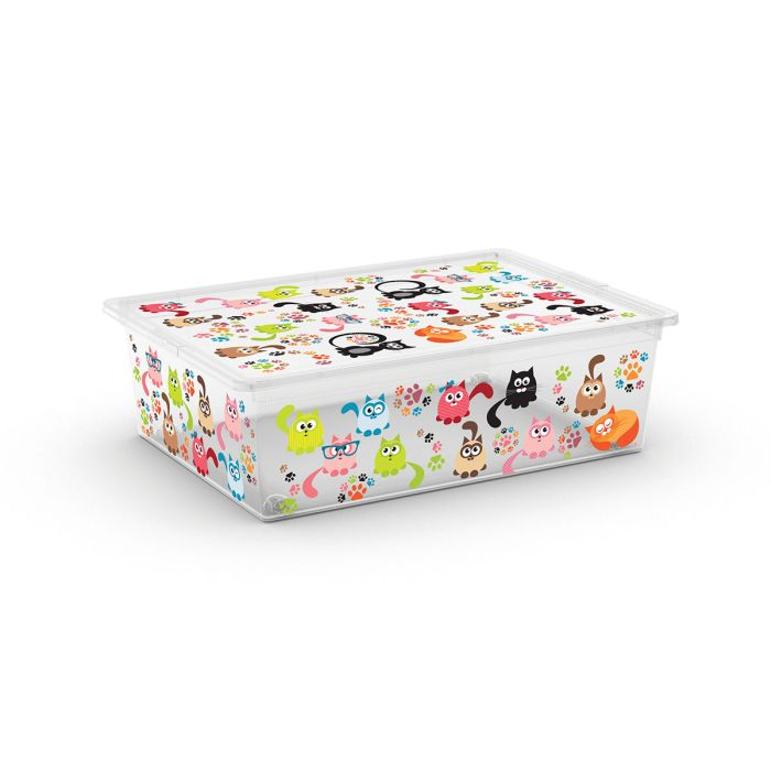 box 27,0l ANIMALS děts. 55x39x16cm, kočky, plast
