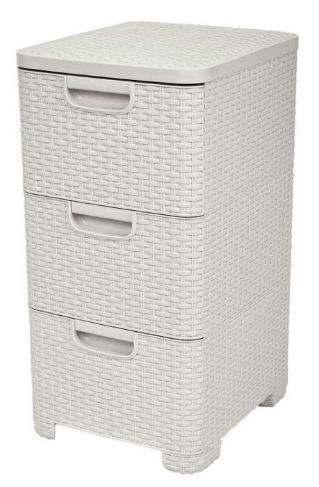 skříňka 3-zásuvkový 33x38x63cm,krém.-ratan