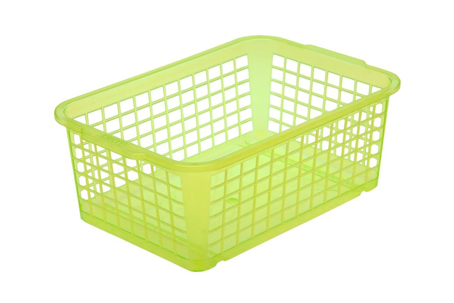 košík sv.zelená, 25x17x10cm,plast