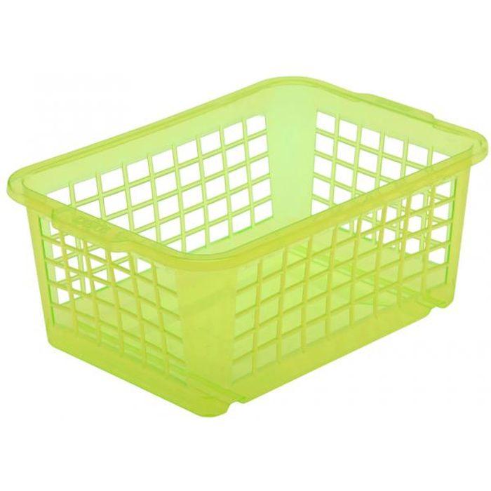 košík sv.zelená, 30x20x10cm,plast