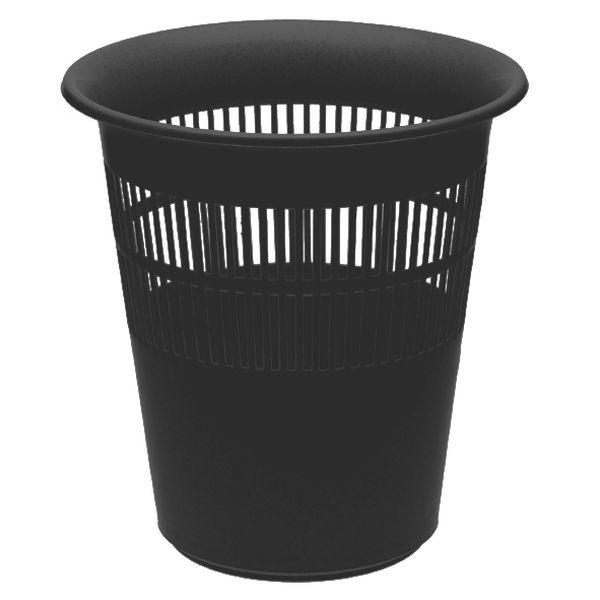 koš odp.d29x31cm,černý,kancel,plast
