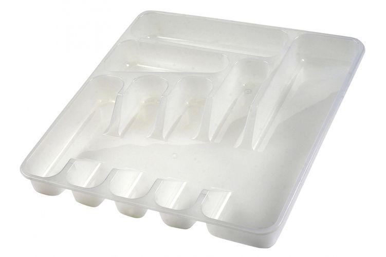 příborník 39,5x37x5cm, transp. 7přihr.,plast