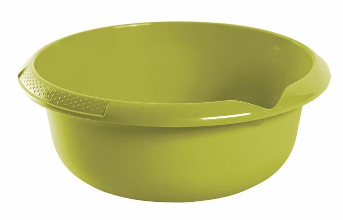 mísa d28x11cm s výlevkou,oliva,plast