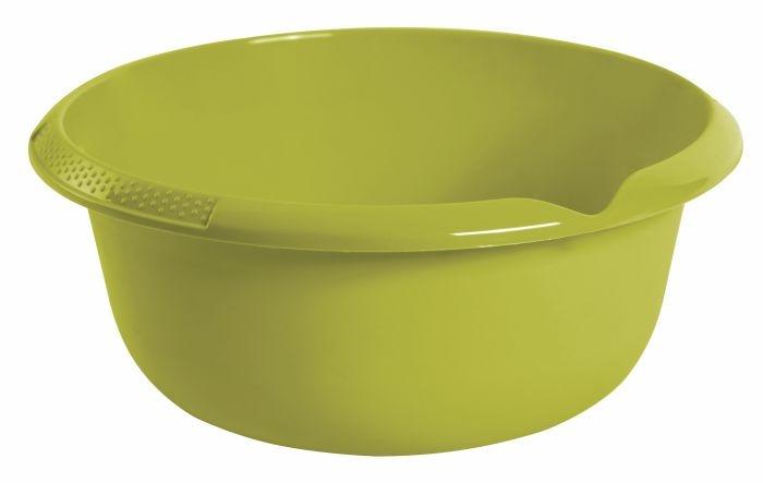 mísa d32x14cm s výlevkou,oliva,plast