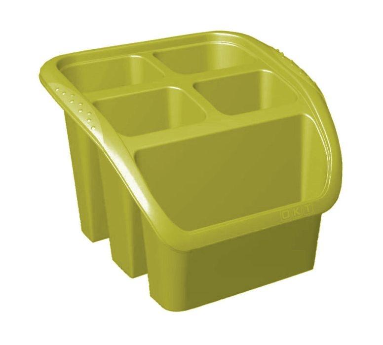 odkapávač příb.16x16x12cm,oliva,plný plast