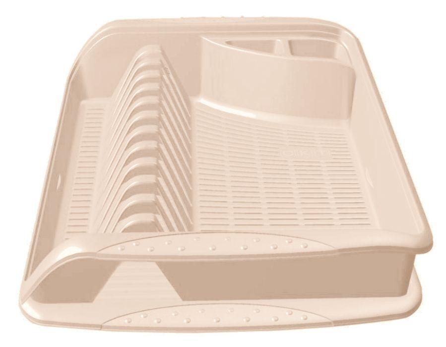 odkapávač 39,5x29,5x8cm,krém,na nádobí,plast