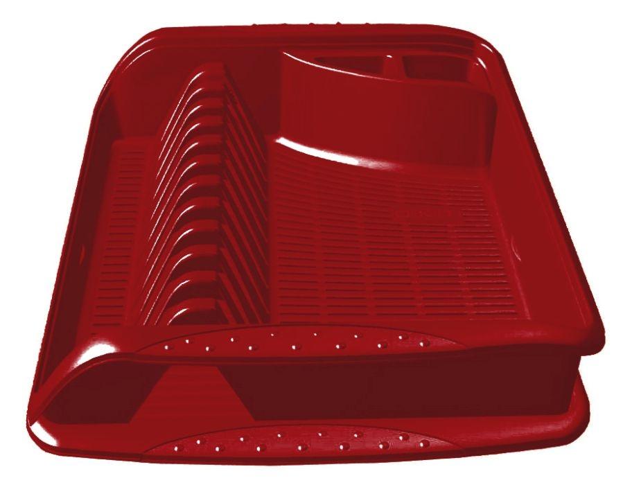odkapávač 39,5x29,5x8cm,bordó,na nádobí,plast