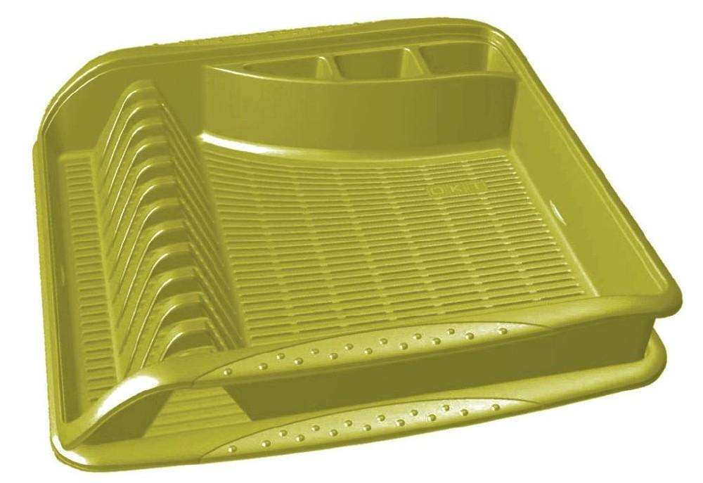 odkapávač 39,5x39,5x8cm,oliva,na nádobí,plast