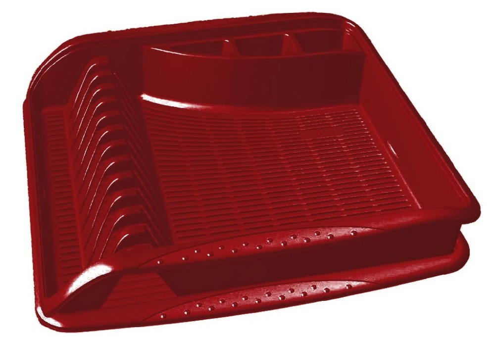 odkapávač 39,5x39,5x8cm,bordó,na nádobí,plast