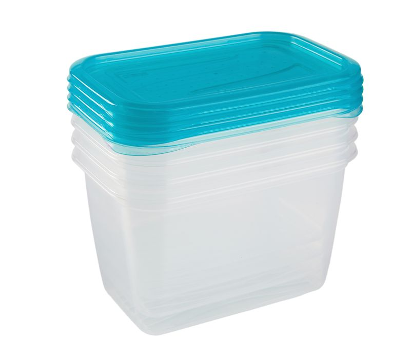 box-sada 4ks 0,75l FREDO, 15,5x10,5x8,5cm, plast