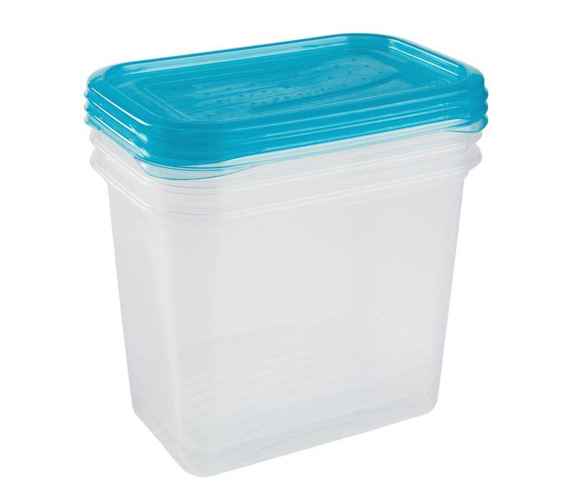 box-sada 3ks 1,00l FREDO, 15,5x10,5x11,5cm, plast