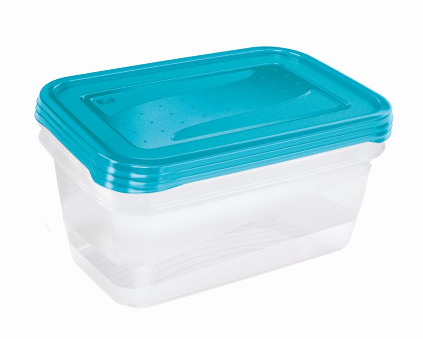 box-sada 3ks 1,25l FREDO, 20,5x15,5x6,5cm, plast