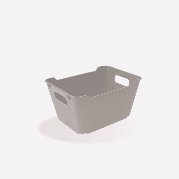 košík 1,8l LOFT,plný,šedý,19x15x10cm, plast
