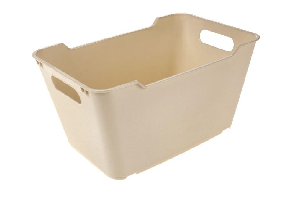 košík 6,0l LOFT,plný,krém.,29x19x15cm,plast