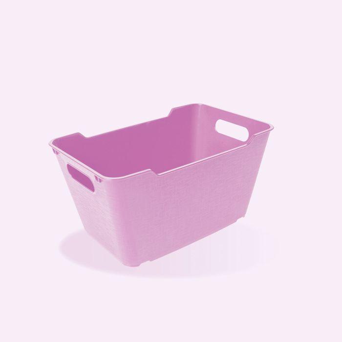 košík 6,0l LOFT,plný, lila, 29x19x15cm,plast