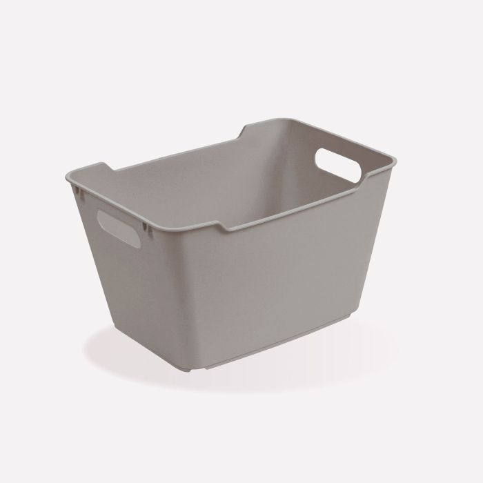 košík 12 l LOFT,plný, šedý,35x23x20cm,plast