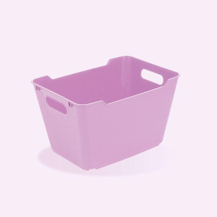 košík 12 l LOFT,plný, lila,35x23x20cm,plast