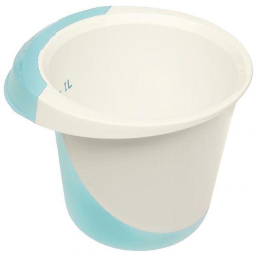mísa 1,5l šlehací DE LUXE,bílá/akvamarín,plast