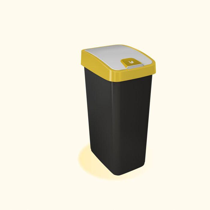 koš odp.45l MAGNE, žlutý, výklop., plast