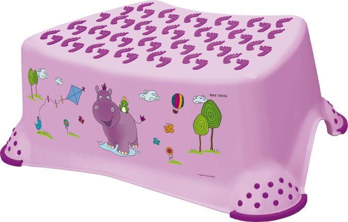 taburetka 40x28,v.14cm,TOMEK růžový, Hroch,plast