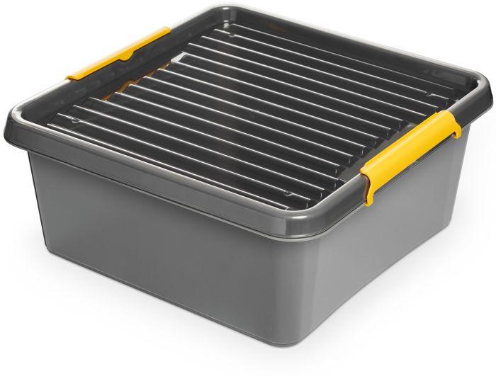 box 18,0 l 39x39x16,5cm,SOLIDST., grafit,plast