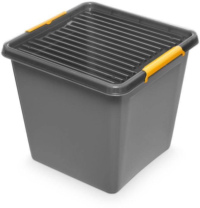 box 36,0 l 39x39x35cm,SOLIDST., grafit plast
