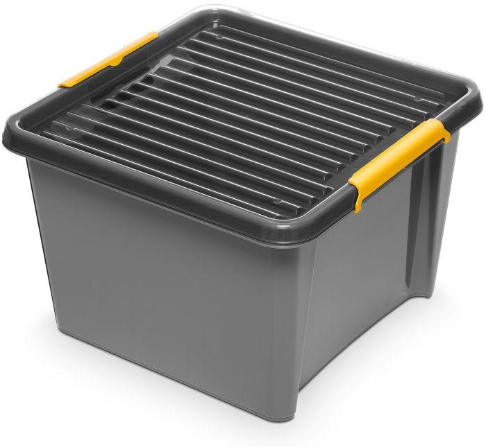 box 25,0 l 39x39x26cm,SOLIDST., grafit,plast