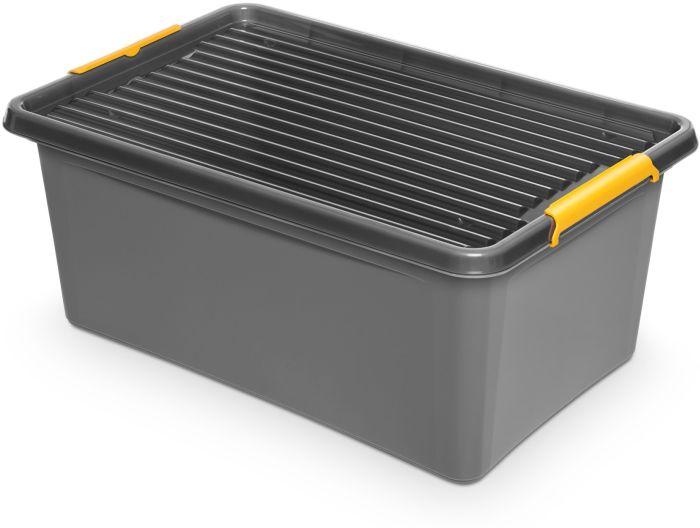 box 40,0 l 58x39x25cm,SOLIDST., koleč.,.grafit,plast