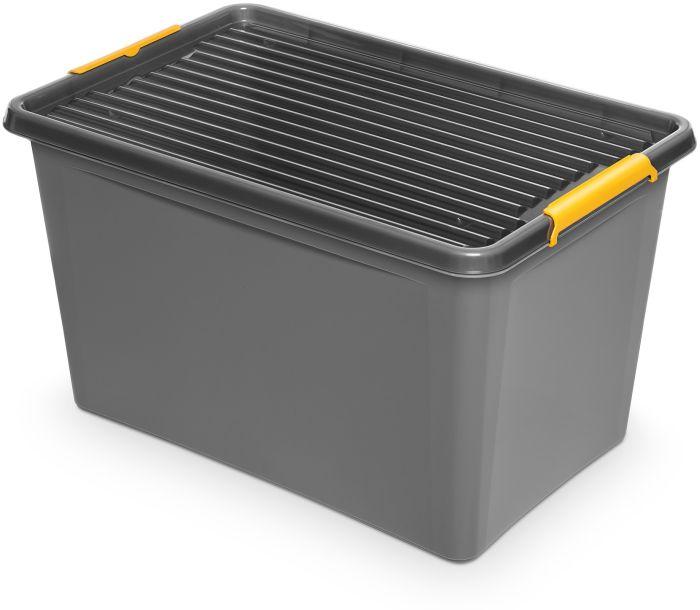 box 60,0 l 58x39x35cm,SOLIDST., koleč.,.grafit,plast