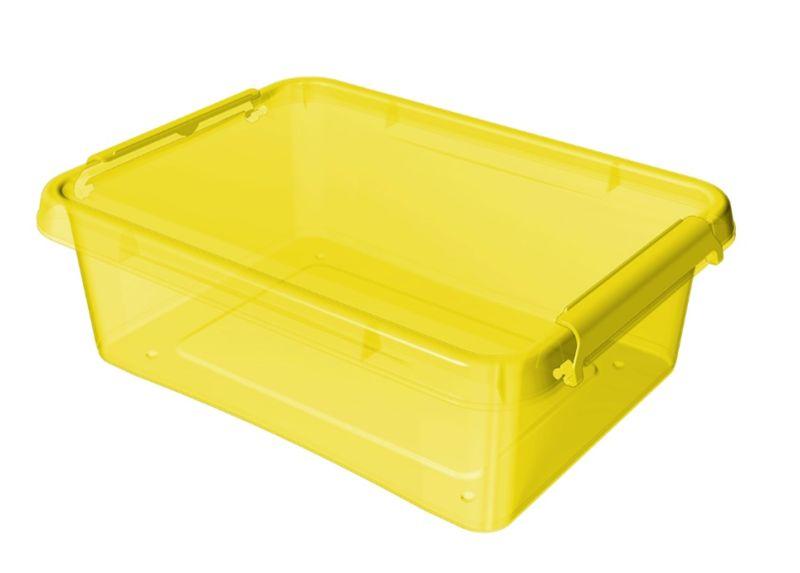 box 8,5 l 39x29x11cm,žlutý tr.plast