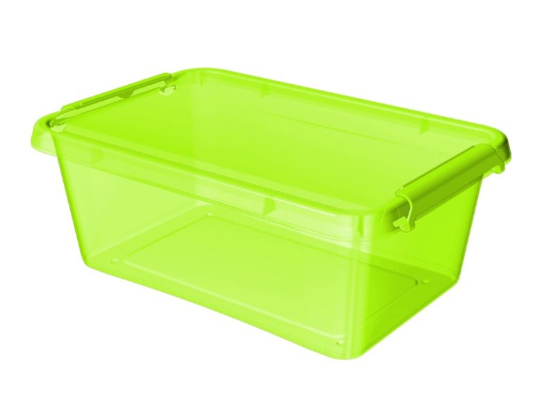 box 8,5 l 39x29x11cm,zelený tr.plast