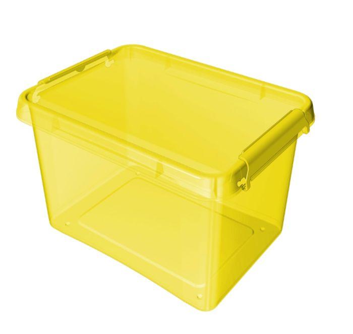 box 12,5 l COLOR-1522 žlutý, 39x29x16,5cm, plast