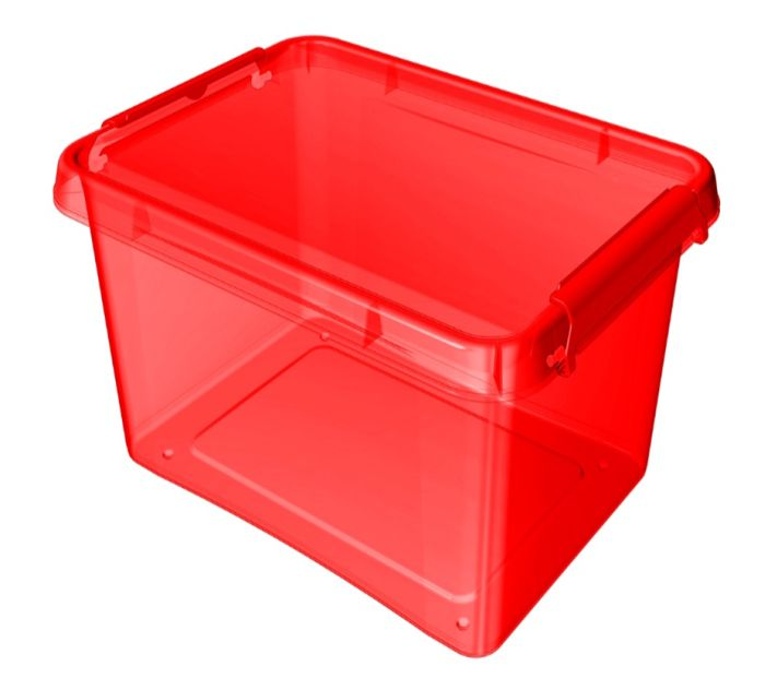 box 12,5 l 39x29x16,5cm, červený tr.plast